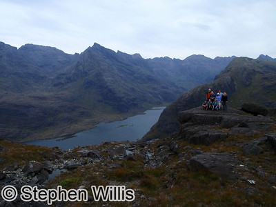 The team near the top of Sguss na Stri, Skye