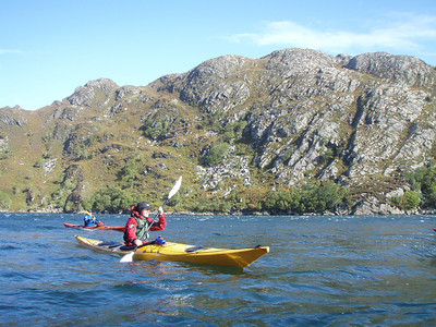 A very quick paddle down the North Channel of Eilean Shona with the wind on our backs