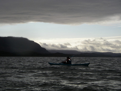 Wild skies on our first evening paddle