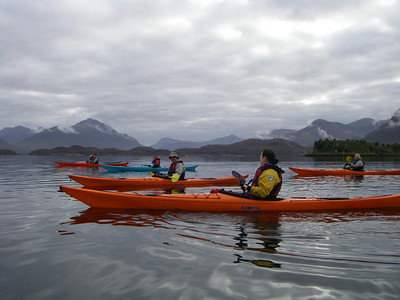 Paddling along the coast towards Loch Torridon