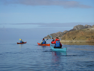 Paddling along the coast toward Diabaig