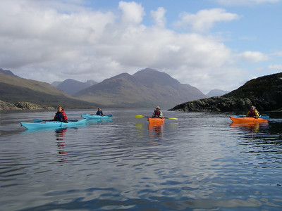 Paddling through the narrows into Loch Sheildaig