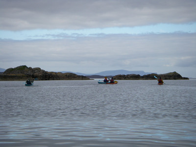 Paddling out to Kishorn Island and An Garbh-eilean on Loch Kishorn