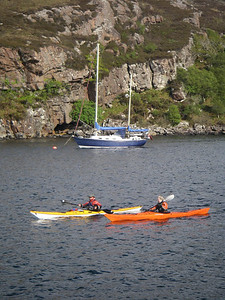 returning to Loch Toscaig after the windy crossing from the Crowlin Islands