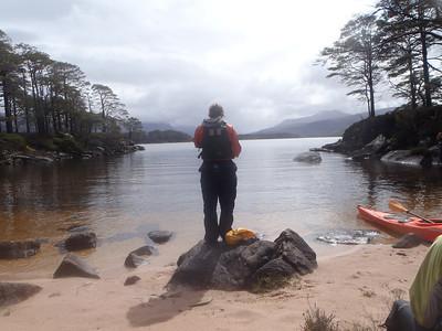 Anna enjoying the sun on Loch Maree