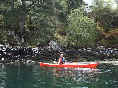 Smiling Cath on a Sunny Loch Shieldaig