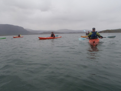 First paddle on upper Loch Torridon