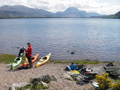 Day 4.  Launching on Loch Maree.  Is this the most beautiful loch in the most beautiful part of the UK?