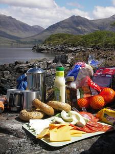 Lunch on Upper Loch Torridon