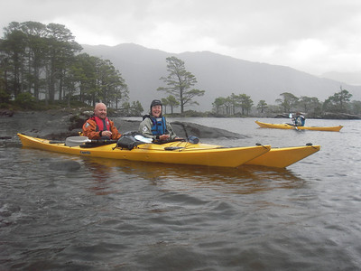 a welcome warm drink and shelter from the wind on loch maree