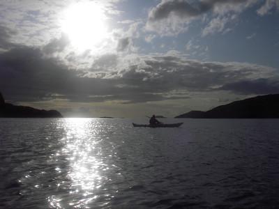 Sun setting over Loch Kercaig
