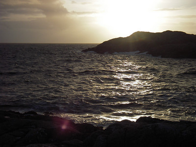 A setting sun.
