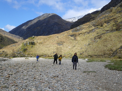 Exploring the contrasting landscapes in Glen Nevis