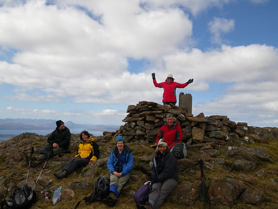 The obligatory summit photograph!