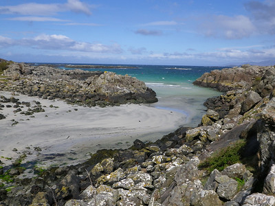 One of the many beautiful sandy inlets on the Ardnamurchan peninsula