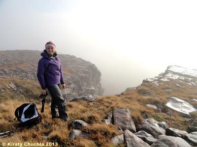 Enjoying the dramatic gullies on Sgurr a Chaorachain