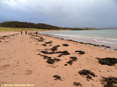Our last stroll on the beach at Gairloch