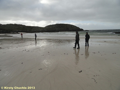 Exploring the lovely beach at Achmelvich