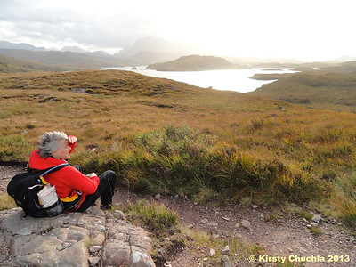 Enjoying a moment of quiet contemplation on the banks of Loch Kernsary