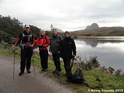 All smiles before a brilliant day on Suilven