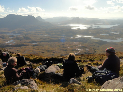 Cul Mor, Cul Beag and Stac Pollaidh in the distance