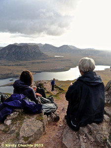 Soaking up the views on Stac Pollaidh