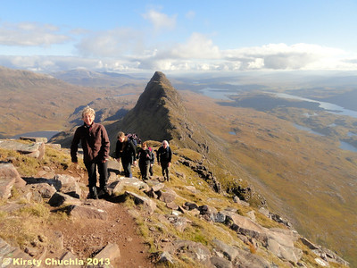 Happy days...approaching the top of Suilven