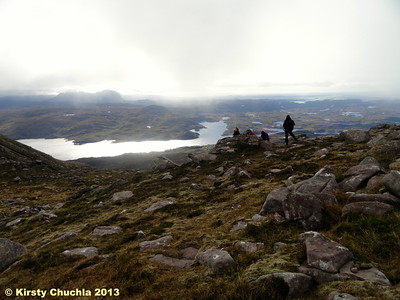 The mist lifted to reveal the wonderful Assynt views