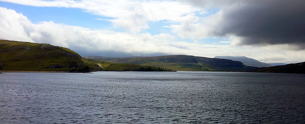 Loch Assynt from Ardwreck Castle.