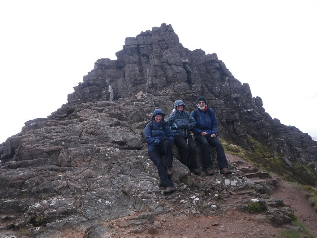 On Stac Pollaidh's ridge