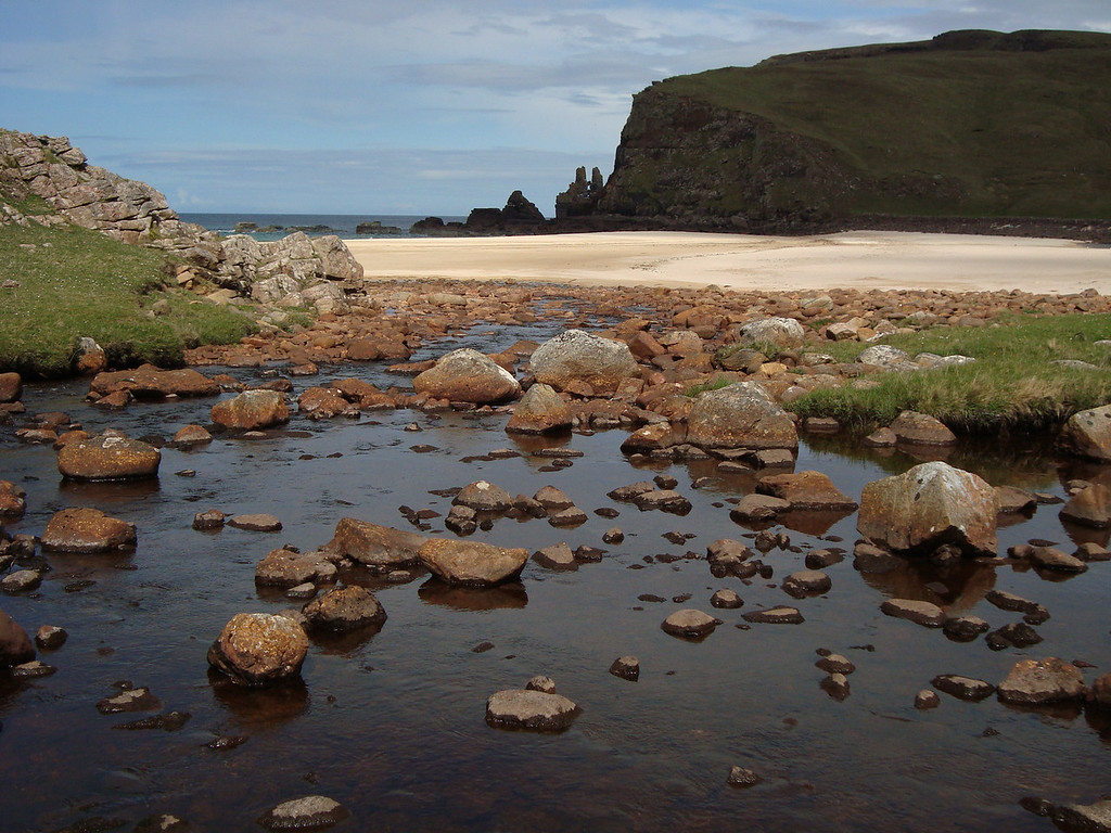 The secluded beach at Kearvaig - great spot for a picnic