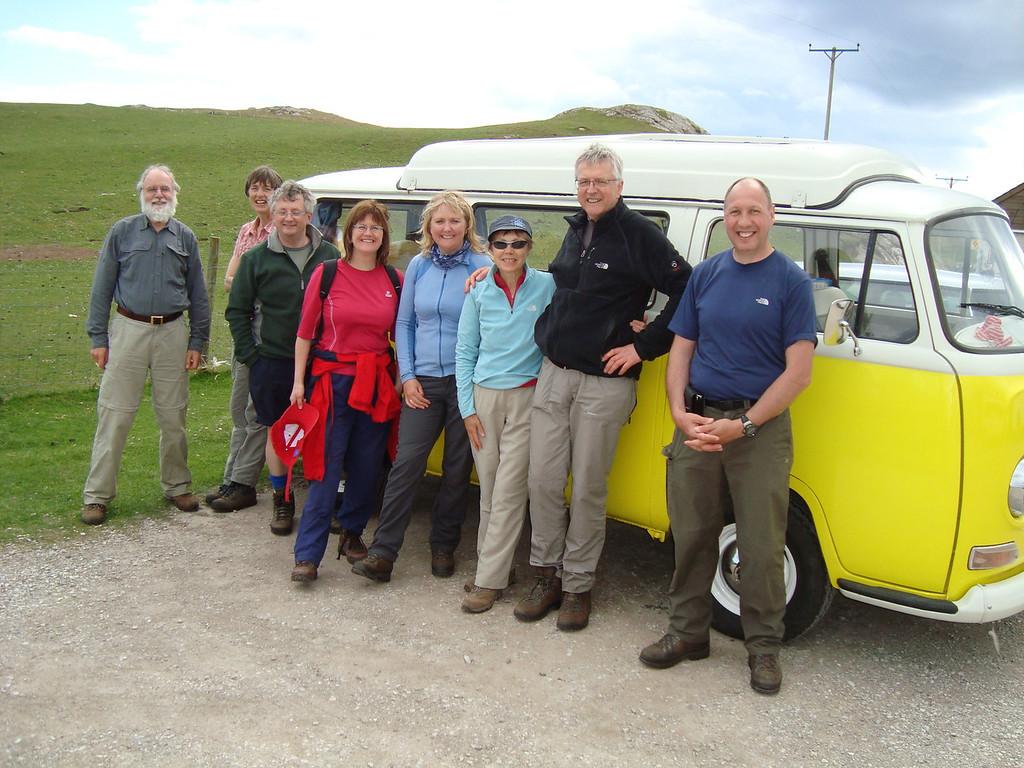 The team after Sandwood Bay