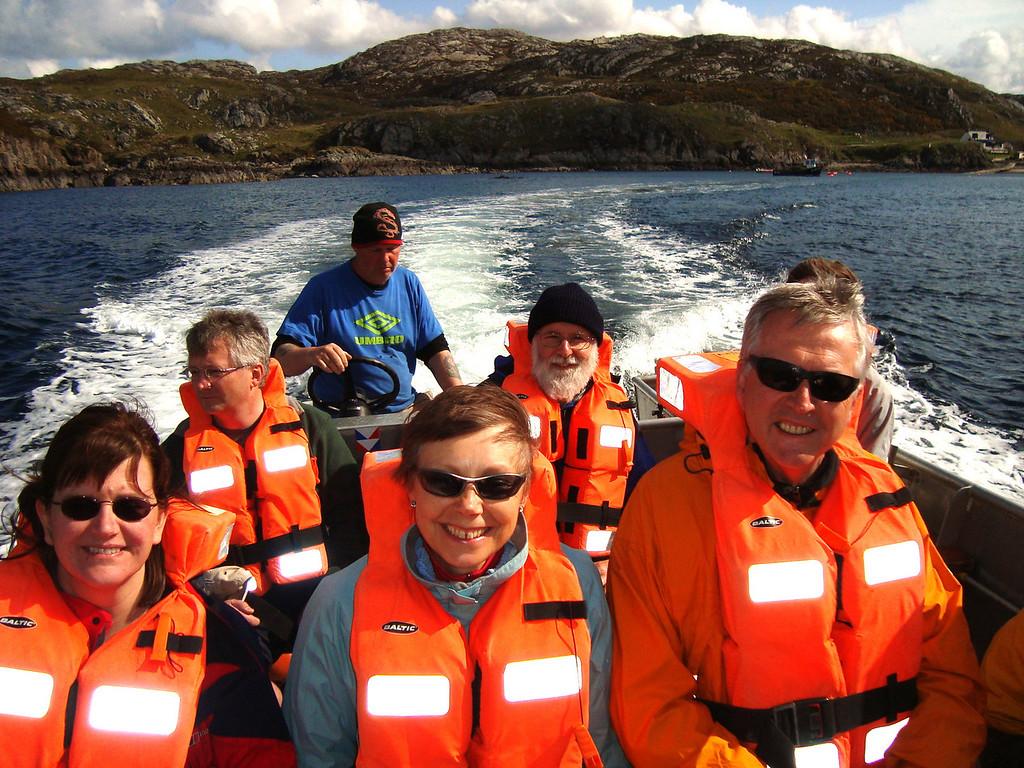 Boat to Handa Island