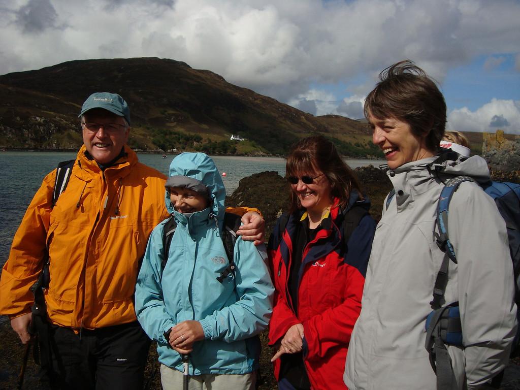 John, Judy, Amanda and Gini in great NW weather