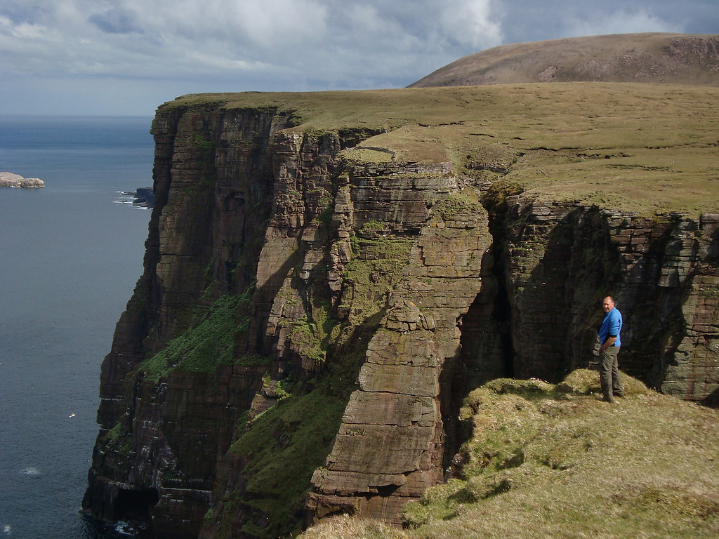 Ian contemplates the drop of Clo Mor, the mainland's highest cliff