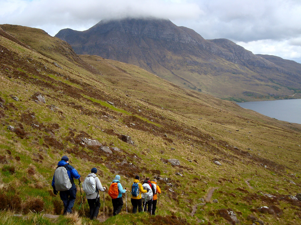 Descending the iconic Stac Polly