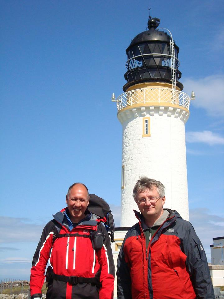 Ian and David and the Stephenson lighthouse