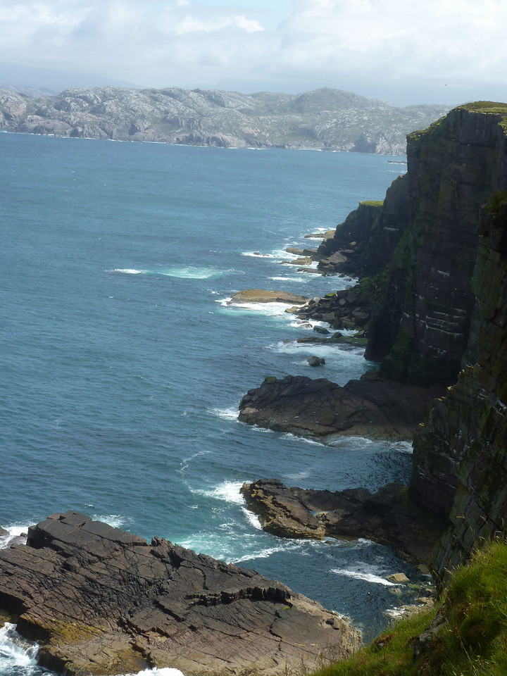 Dramatic coastline of Handa Island