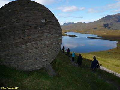 Rock sculpture at Knockan Crag.