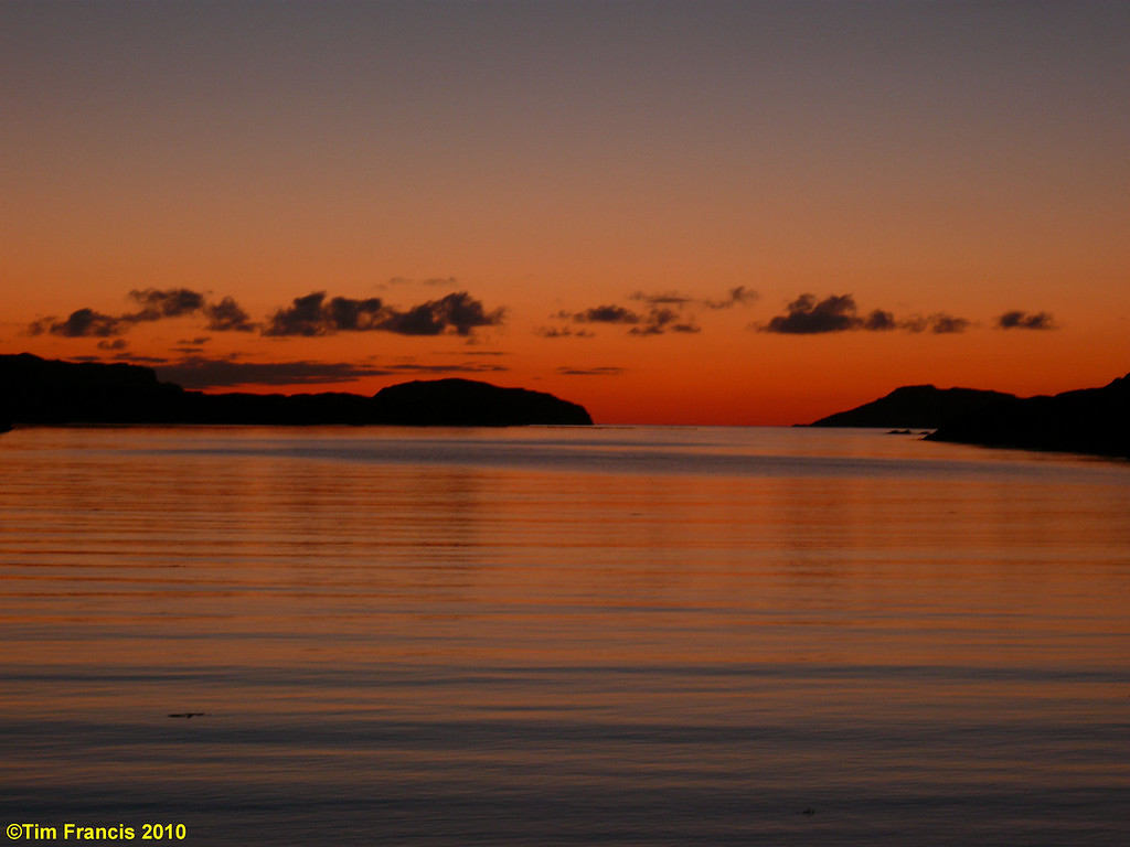 Sunset over Loch Laxford.