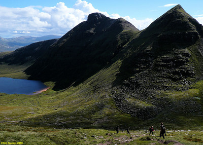 Looking south on the descent from Sail Gharbh, Quinag.