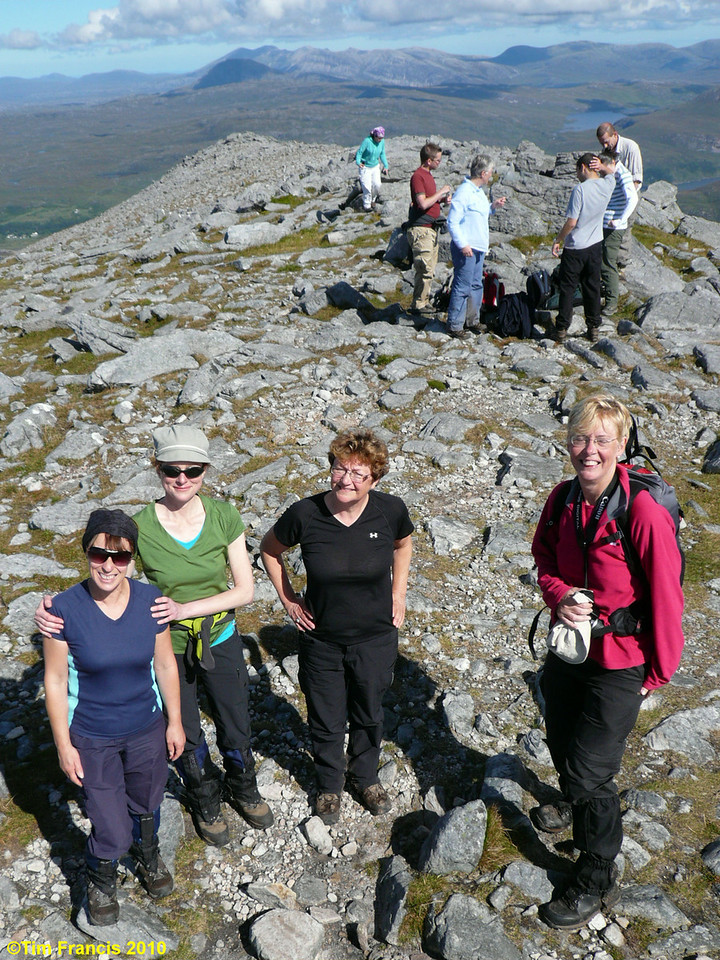 Made it! - the top of Quinag looking N to Ben Stack, Arkle and Foinaven.
