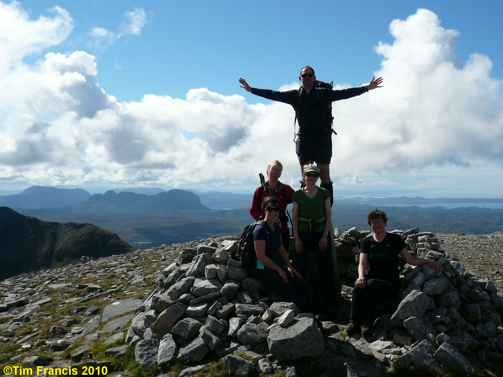 On top of Quinag with Suilven behind.