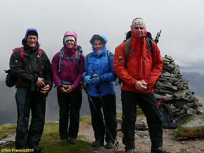 Gleouraich summit team.