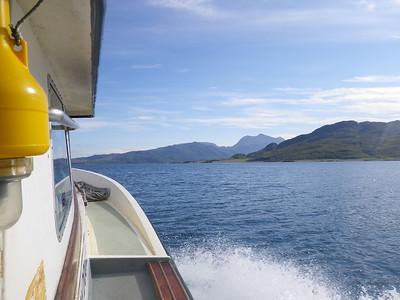 Heading up Loch Hourn