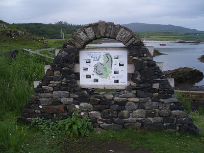 Isle of Eigg information board.