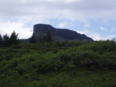 North-east view of An Sgurr, on Eigg.