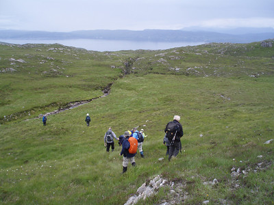 The group exploring West Knoydart.