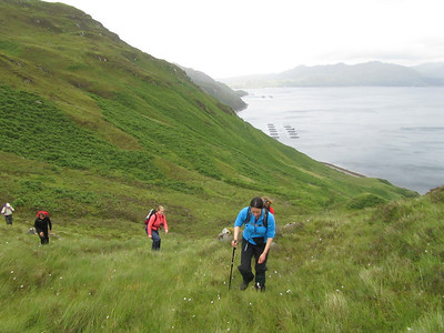 Walkning on the shores of Loch Nevis