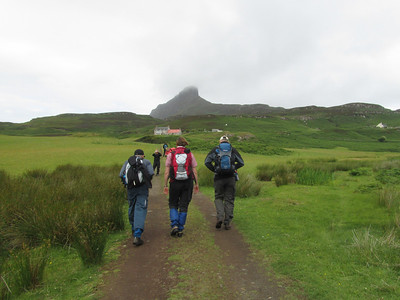 walking towards the Sgur on Eigg